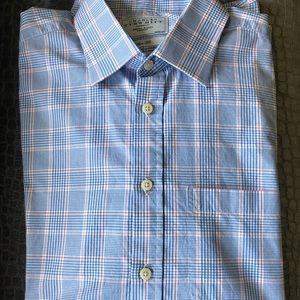 Charles Tyrwhitt blue plaid dress shirt